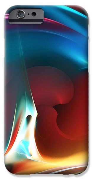 Expressionism Digital Art iPhone Cases - Abstract 112810 iPhone Case by David Lane