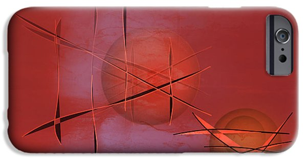 Abstract Expressionist iPhone Cases - Abstract 21 iPhone Case by John Krakora