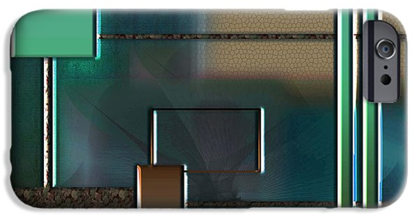 Abstracts Sculptures iPhone Cases - Abstract 2470 iPhone Case by Iris Gelbart