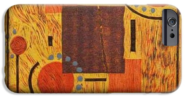 Relief Print iPhone Cases - Abstract 32007 iPhone Case by Patricia Phare-Camp