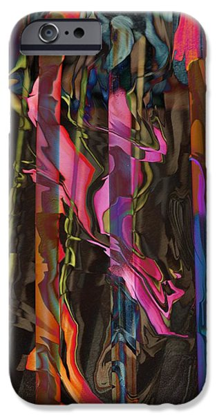 Abstract Digital Mixed Media iPhone Cases - Abstract 415 1 iPhone Case by Kae Cheatham