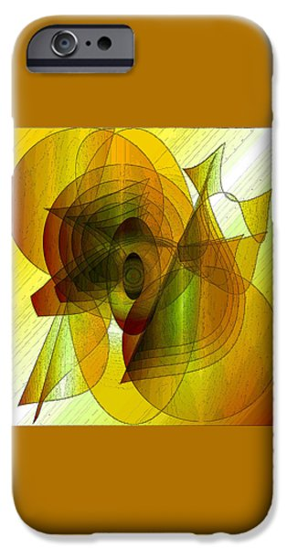 Shape iPhone Cases - Abstract 4638 iPhone Case by Iris Gelbart