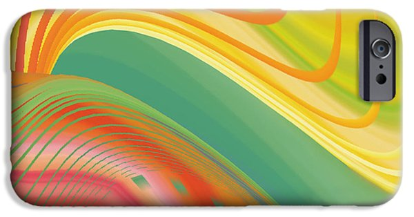 Concept Digital Art iPhone Cases - Abstract 5 iPhone Case by Sheela Ajith