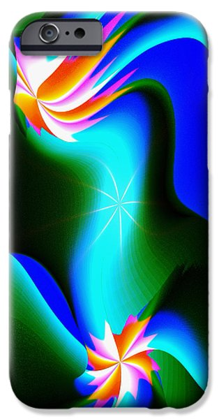 Abstract Digital iPhone Cases - Abstract 615 1 iPhone Case by Kae Cheatham
