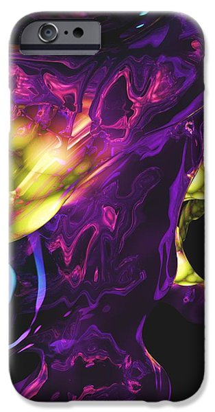 Abstract 7-25-09 iPhone Case by David Lane