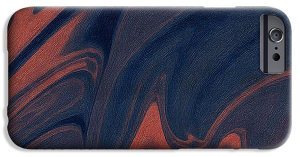 Abstract Digital iPhone Cases - Abstract 7 iPhone Case by Sheela Ajith