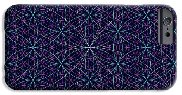 Abstract Digital Drawings iPhone Cases - Abstract 99 - The Flower of Life iPhone Case by Radu Gavrila