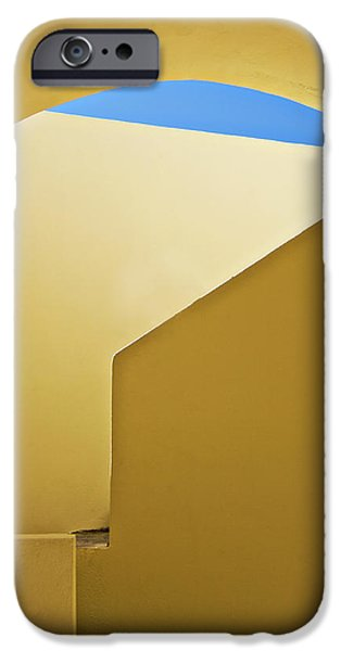 Diagonal iPhone Cases - Abstract Architecture In Yellow iPhone Case by Meirion Matthias