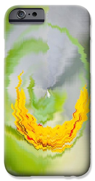 Christmas Greeting iPhone Cases - Abstract Art 6 iPhone Case by Sonali Gangane