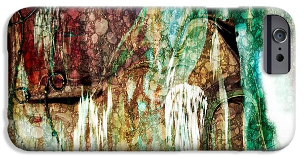 Miracle iPhone Cases - Abstract Art  From Water To Wine Sherri Of Palm Springs iPhone Case by Sherri  Of Palm Springs