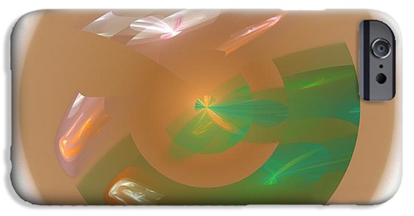 Business Digital Art iPhone Cases - Abstract Art Image #1310213 iPhone Case by Xiaokuan Ren