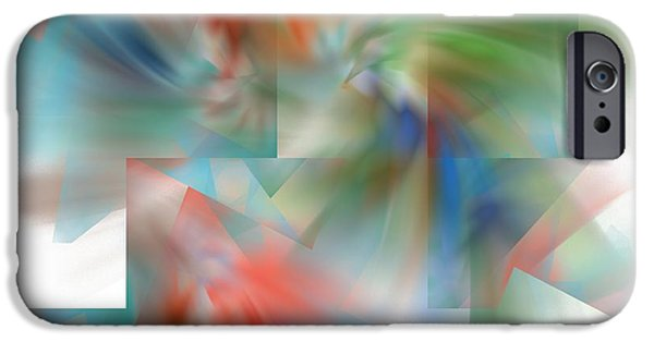 Business Digital Art iPhone Cases - Abstract Art Image #1310223 iPhone Case by Xiaokuan Ren