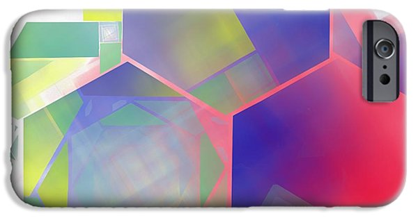 Business Digital Art iPhone Cases - Abstract Art Image #1310224 iPhone Case by Xiaokuan Ren