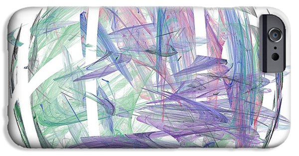 Business Digital Art iPhone Cases - Abstract Art Image #1310225 iPhone Case by Xiaokuan Ren