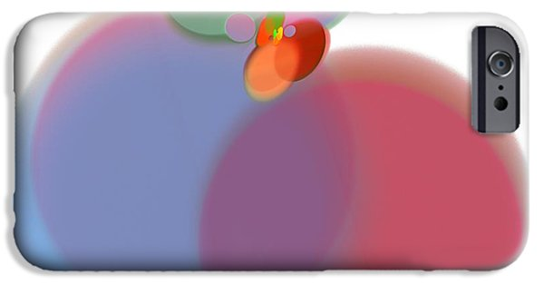 Business Digital Art iPhone Cases - Abstract Art Image #1310241 iPhone Case by Xiaokuan Ren
