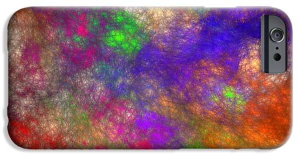 Business Digital Art iPhone Cases - Abstract Art Image #1409252 iPhone Case by Xiaokuan Ren