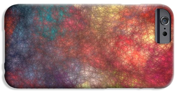 Business Digital Art iPhone Cases - Abstract Art Image #1409253 iPhone Case by Xiaokuan Ren