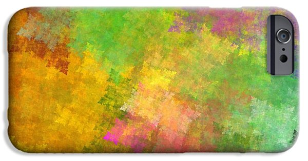 Business Digital Art iPhone Cases - Abstract Art Image #1409256 iPhone Case by Xiaokuan Ren