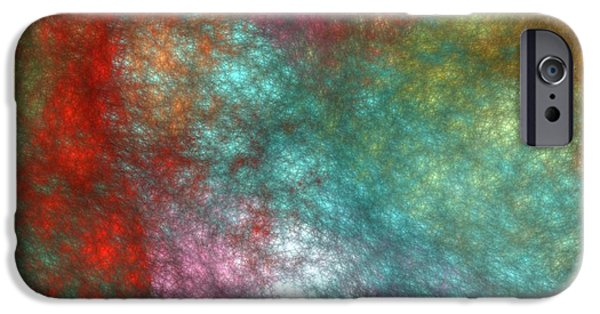 Business Digital Art iPhone Cases - Abstract Art Image #1409258 iPhone Case by Xiaokuan Ren