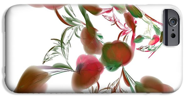 Abstract Digital Art iPhone Cases - Abstract Art Image #1411061 iPhone Case by Xiaokuan Ren