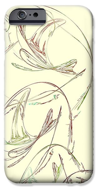 Abstract Digital iPhone Cases - Abstract Art Image #1506231 iPhone Case by Xiaokuan Ren