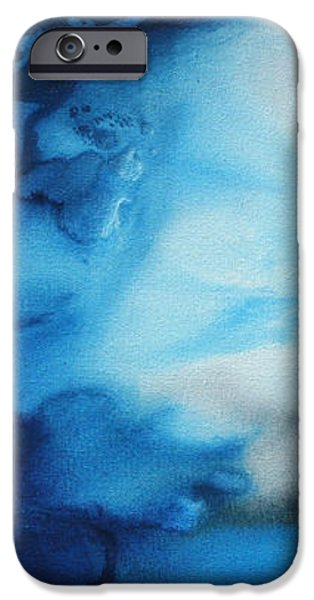 Abstract Art Original Blue Pianting UNDERWATER BLUES by MADART iPhone Case by Megan Duncanson