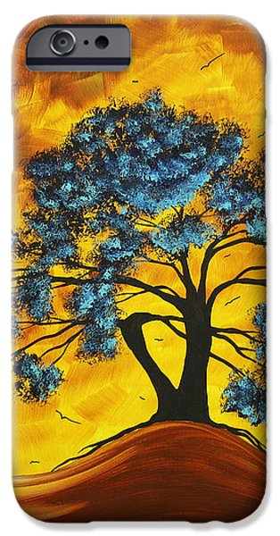 Abstract Art Original Landscape Painting DREAMING IN COLOR by MADARTMADART iPhone Case by Megan Duncanson