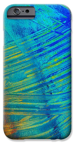 Abstract Art  Painting Freefall by Ann Powell iPhone Case by Ann Powell
