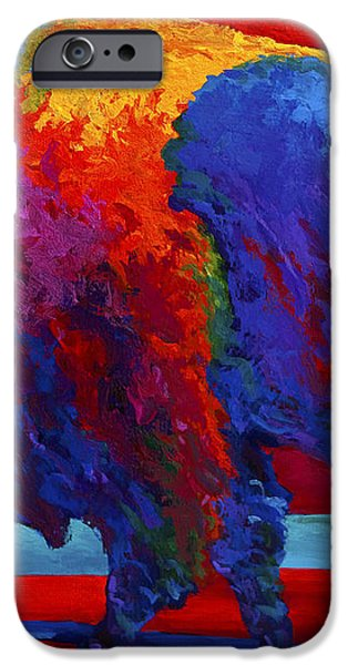 Abstract Bison iPhone Case by Marion Rose