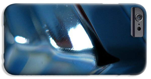Freedmen iPhone Cases - Abstract Blue - Aim iPhone Case by Jason Freedman