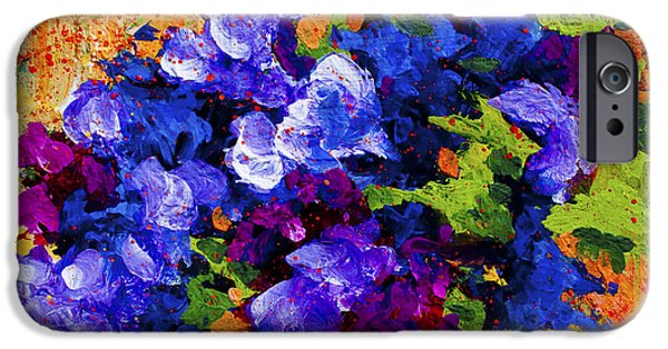 Florals iPhone Cases - Abstract Boquet 3 iPhone Case by Marion Rose