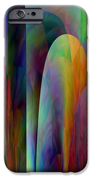 Abstract Digital iPhone Cases - Abstract C iPhone Case by Kathy Franklin