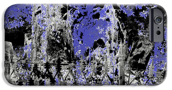 Headstones Mixed Media iPhone Cases - Abstract Cemetery iPhone Case by EnDora TwinkLens