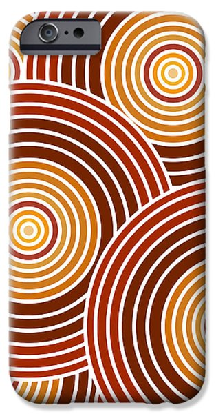 Circles Drawings iPhone Cases - Abstract Circles iPhone Case by Frank Tschakert