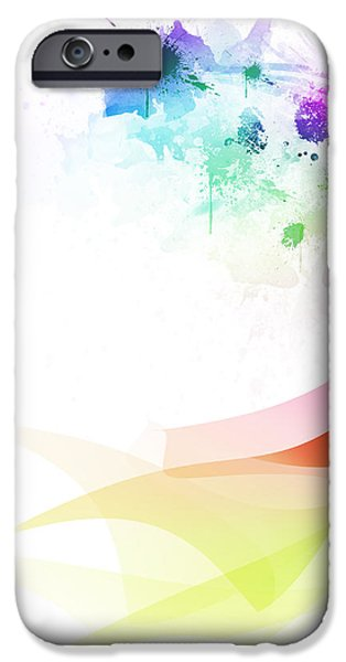 Abstract colorful curved iPhone Case by Setsiri Silapasuwanchai