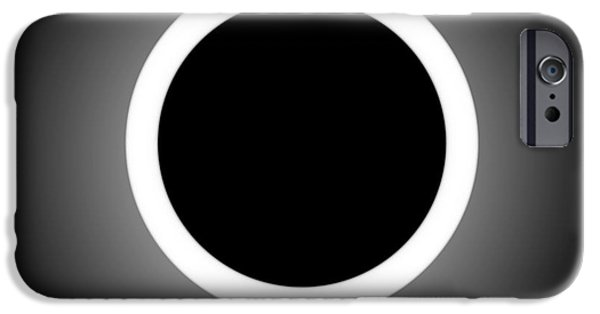 Abstract Digital Paintings iPhone Cases - ABSTRACT COMPOSITION - Perfect Eclipse  iPhone Case by Celestial Images