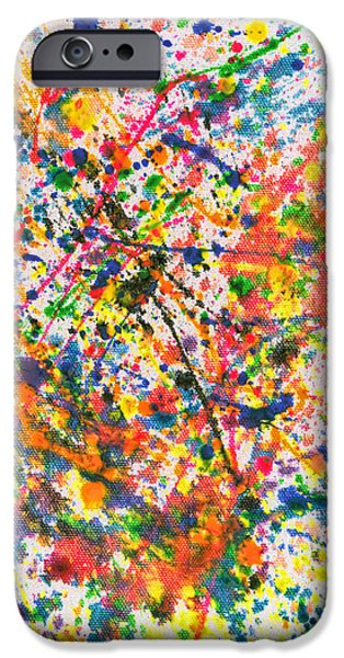 Freedom Party iPhone Cases - Abstract - Crayon - Mardi Gras iPhone Case by Mike Savad