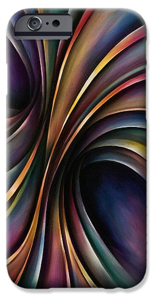 abstract design 55 iPhone Case by Michael Lang