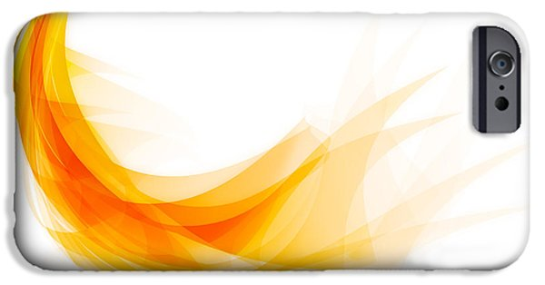 Abstract Digital Digital Art iPhone Cases - Abstract feather iPhone Case by Setsiri Silapasuwanchai