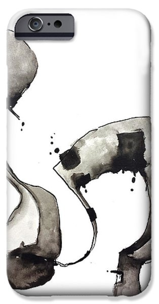 Abnormal iPhone Cases - Abstract Figure iPhone Case by Nick Watts