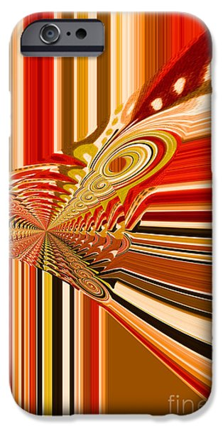 Stripes iPhone Cases - Abstract Fish iPhone Case by Diana Chason