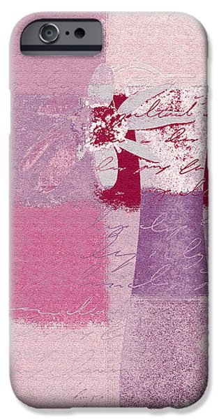 Abstract Floral - 11v3t09 iPhone Case by Variance Collections