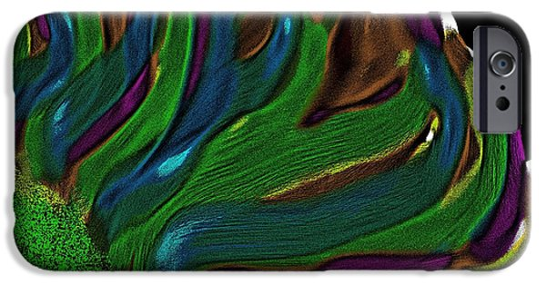 Abstract Digital iPhone Cases - Abstract Flower iPhone Case by April Cook