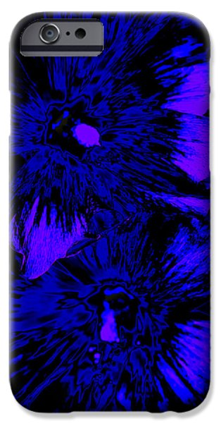 Abstract Digital Photographs iPhone Cases - Abstract Flowers iPhone Case by Julie Wooden