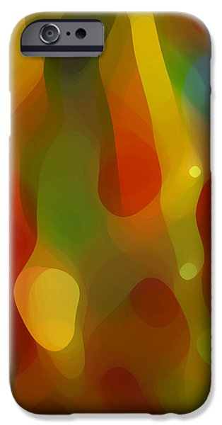 Abstract Movement Digital iPhone Cases - Abstract Flowing Light iPhone Case by Amy Vangsgard