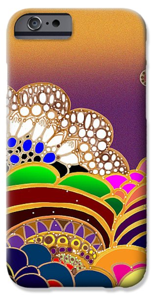 Labstract iPhone Cases - Abstract Happy iPhone Case by Vivian Rayford