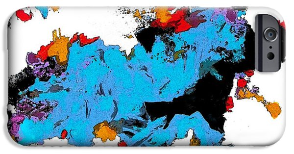 Concept Paintings iPhone Cases - Abstract Imagery iPhone Case by Charles Yates
