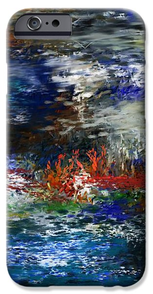 abstract impression 5-9-09 iPhone Case by David Lane