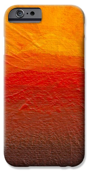 Red Abstract iPhone Cases - Abstract Landscape #1 iPhone Case by Ryan Wood