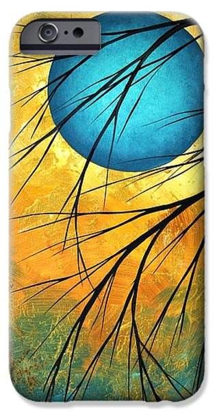 Madart iPhone Cases - Abstract Landscape Art PASSING BEAUTY 1 of 5 iPhone Case by Megan Duncanson